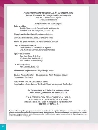 Formación Catequistas - Medio 1 - Saber Hacer – Catequista