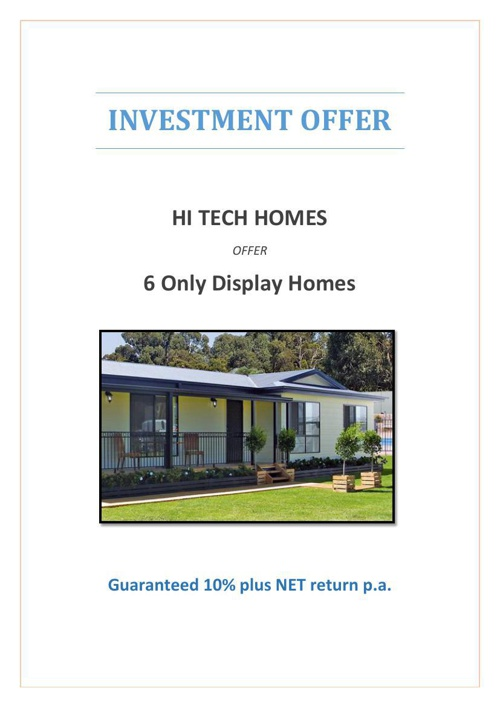 Display Home Offer