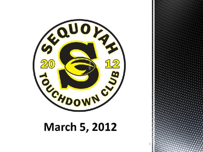Touchdown Club March 5th Meeting Agenda