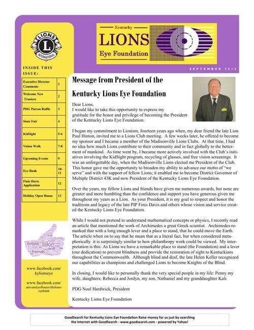September 2013 KLEF Newsletter