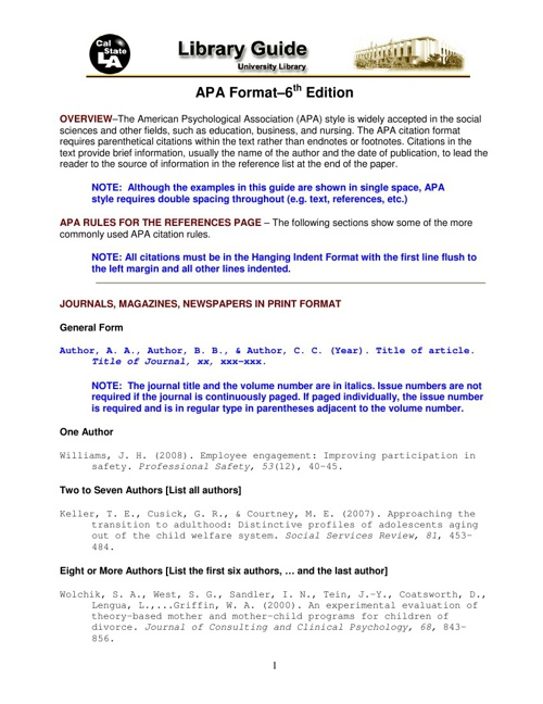 psychological effects of divorce in apa format