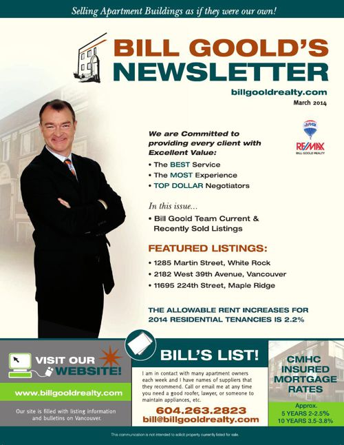 Bill Goold Newsletter Mar 2014