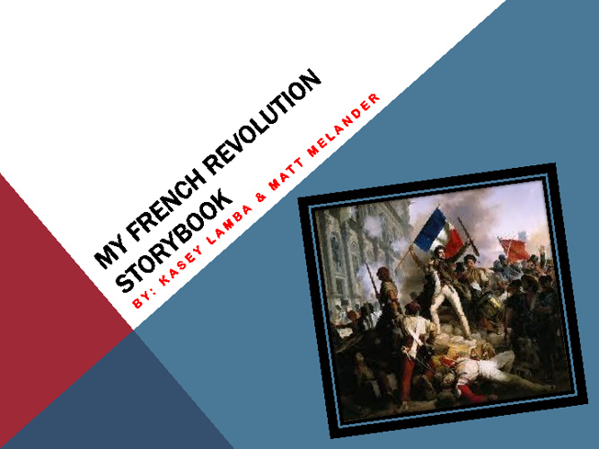 French Revolution Storybook 2