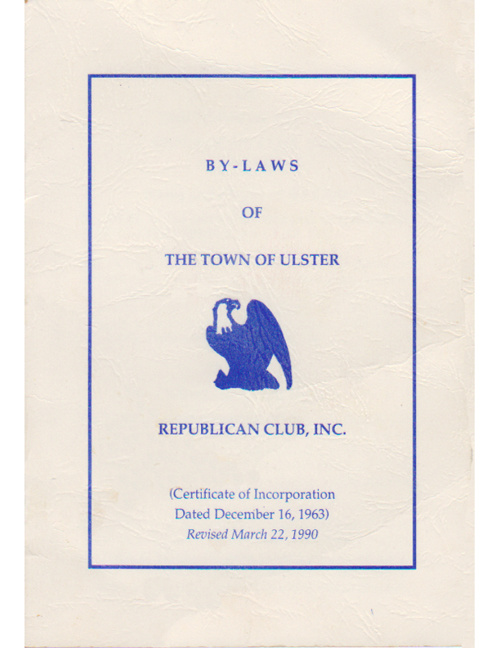 1990-03-22 TOU Republican Club By-Laws
