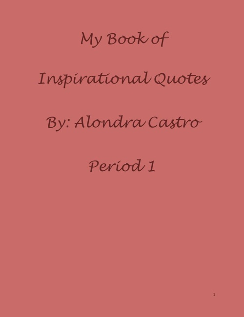 My Book Inspirational Quotes