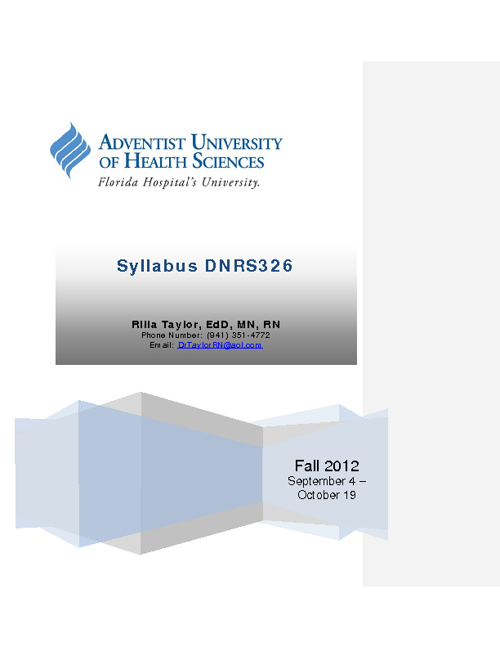 DNRS326 Printable Syllabus