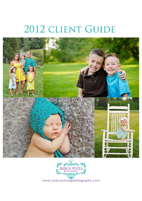 2012 Client Guide - Jessica Vocke Photography