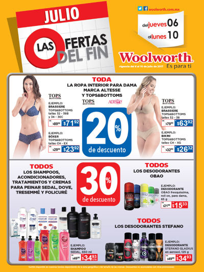 Folleto Ofertas del Fin Julio Woolworth