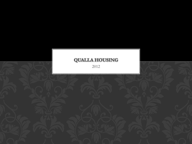 Qualla Housing 2012