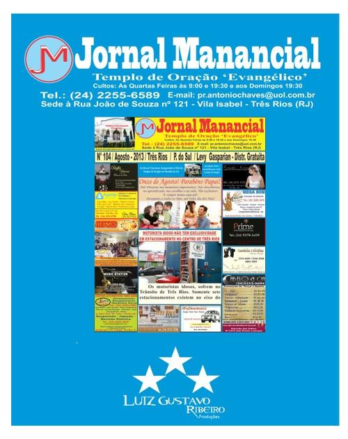 Jornal Manancial Mês de Agosto de 2013