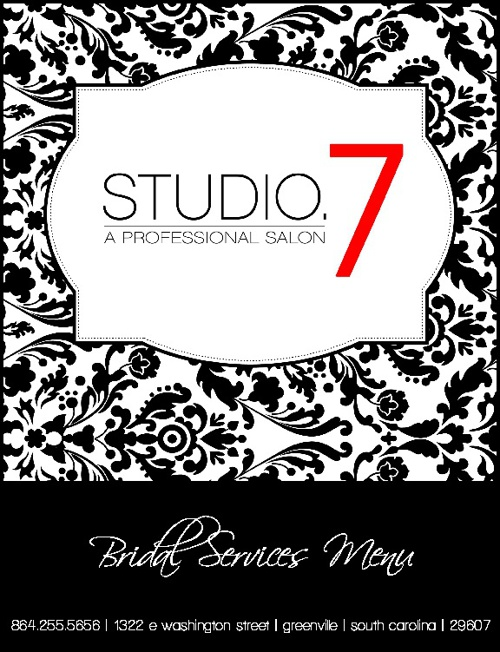 STUDIO.7 | Bridal Services Menu