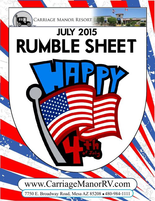 July 2015 Rumble Sheet