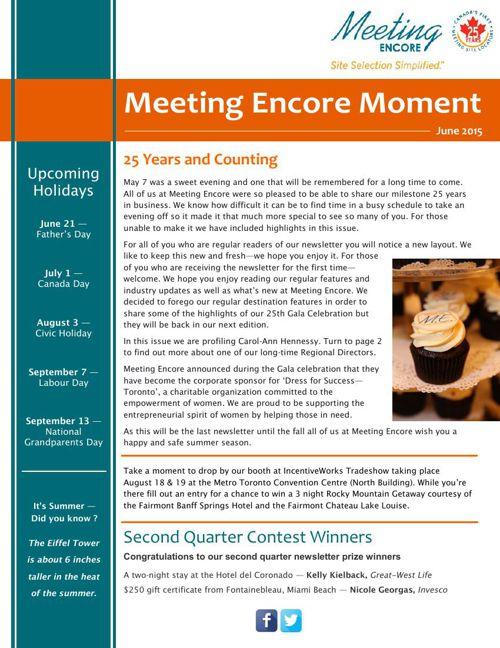 Meeting Encore Moment - June 2015