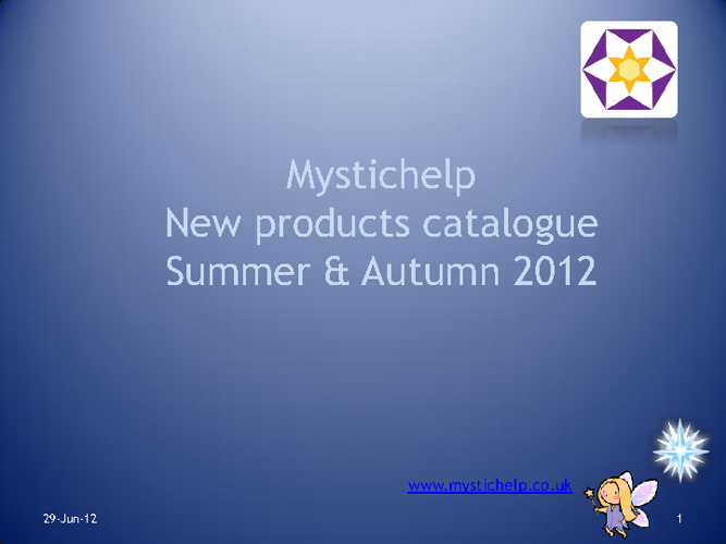 New product catalogue - Summer & Autumn 2012