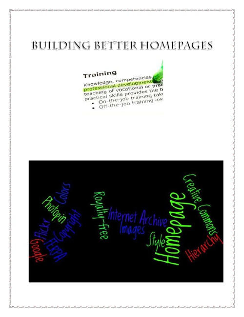Homepage Professional Development