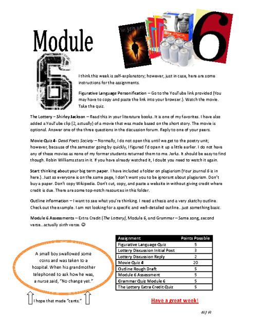Module 6 To Do