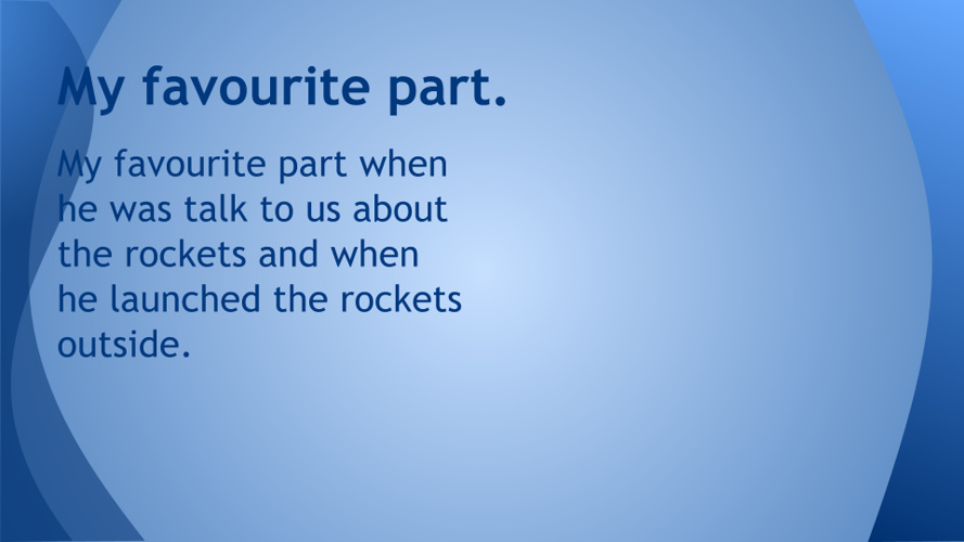 Learning about the rockets