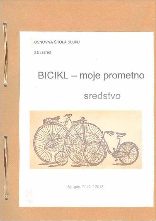 Bicikl-moje prometno sredstvo