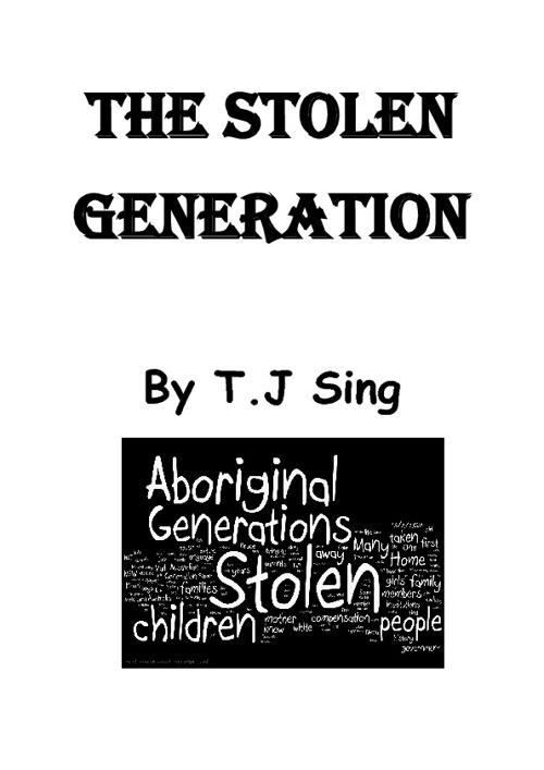 T.J's flipsnack book on the Stolen Generation