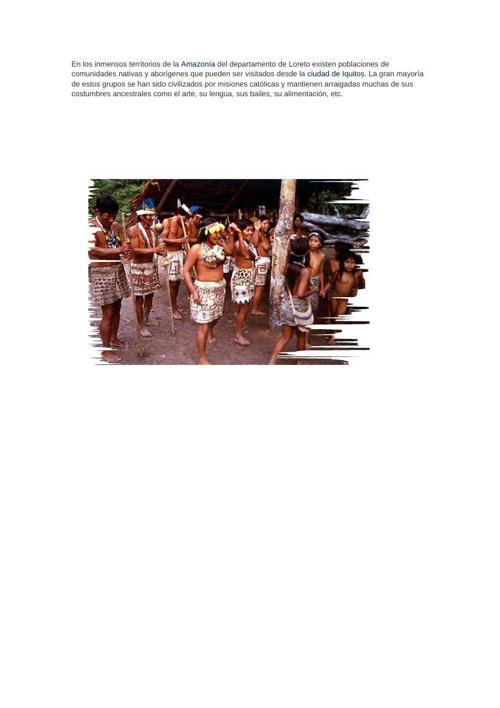 comunidades nativas tarea