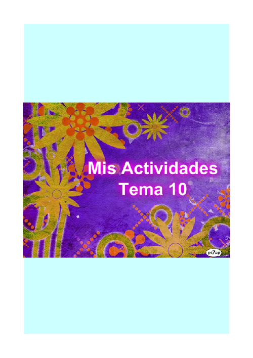 Mis actividades tema 10
