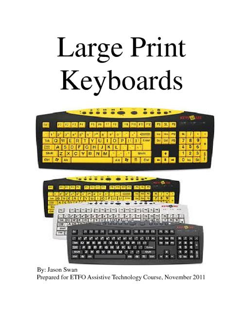 Large Print Keyboards