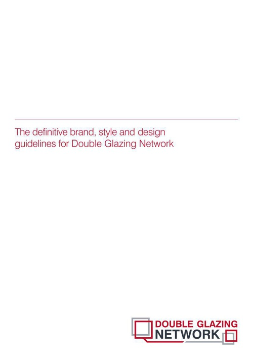 Double Glazing Network Brand Guidelines