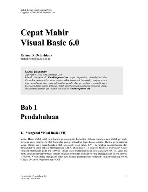 Tutorial VB 6