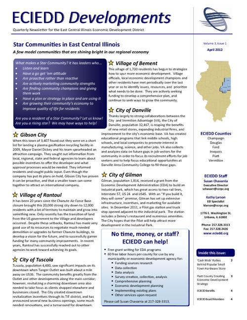 ECIEDD Developments Newsletter: Volume 3, Issue 1