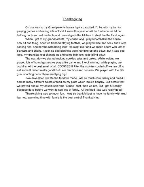 Middle School Diaries:  Writing Portfolio Morghan Brown