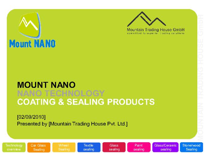 BRAVE NANO GROUP LLC. (BNG) PRESENTATION