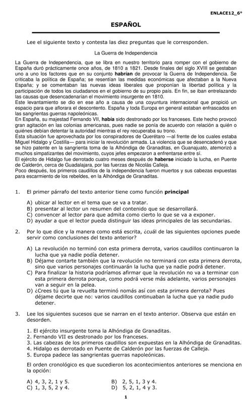 EXAMEN DE ENLACE