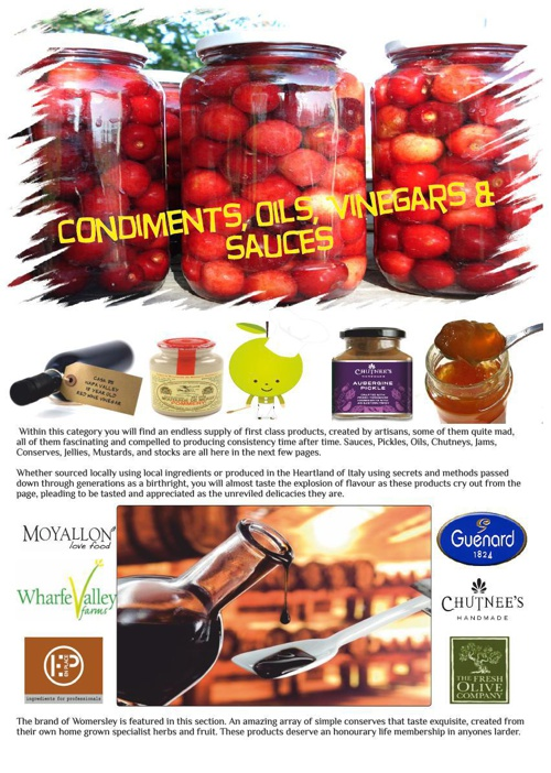 Condiments, Oils, Vinegars & Sauces
