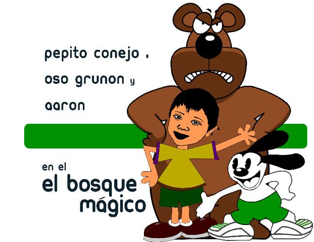 Pepito Conejo, Osos Gruñon y Aaron en el Bosque Magico