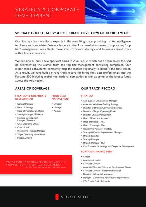 Argyll Scott - APAC Strategy and Corporate Development