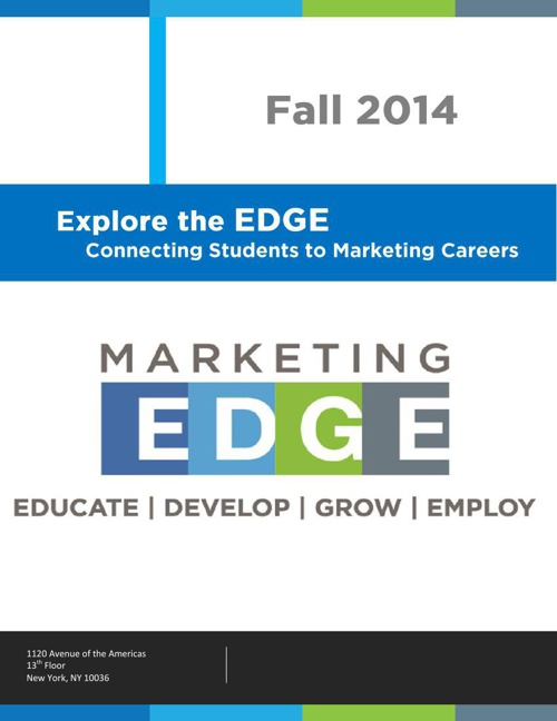 Marketing EDGE | Student Newsletter | Fall 2014
