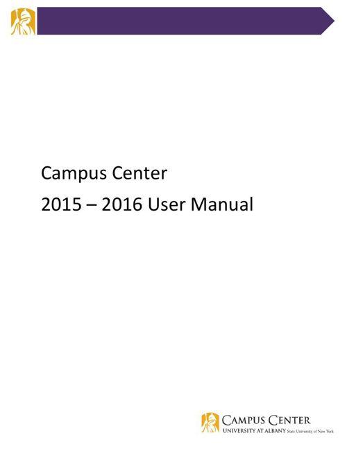 Campus Center 2015-2016 User Manual
