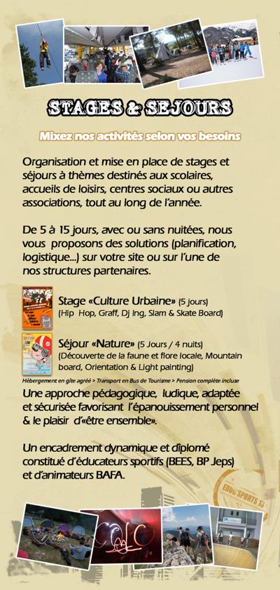Les activités de l'association EDUC'SPORTS 13