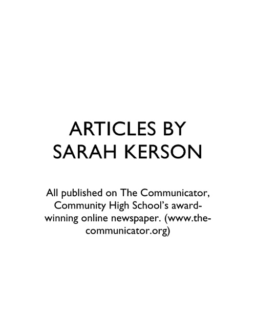 Articles by Sarah Kerson