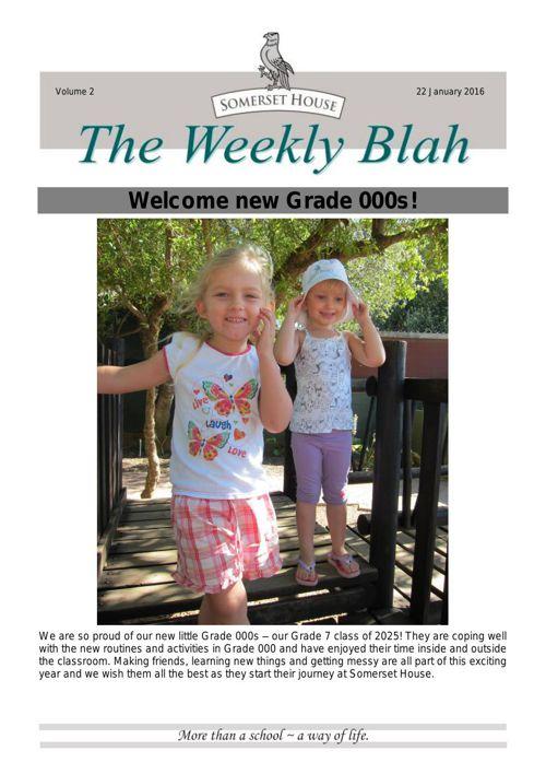 2016 Newsletter 2 22 January