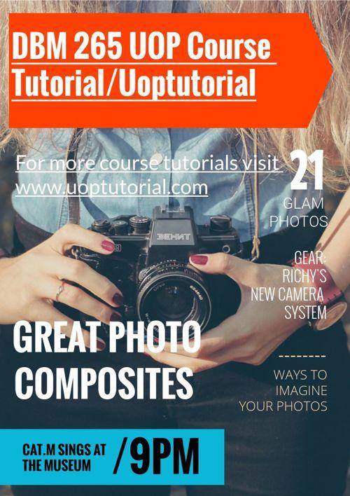 DBM 265 UOP Course Tutorial/Uoptutorial
