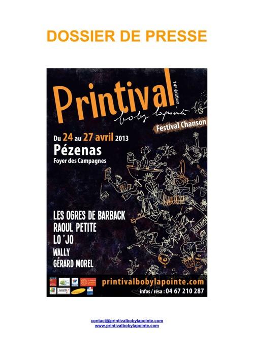 dossier de presse Printival 2013