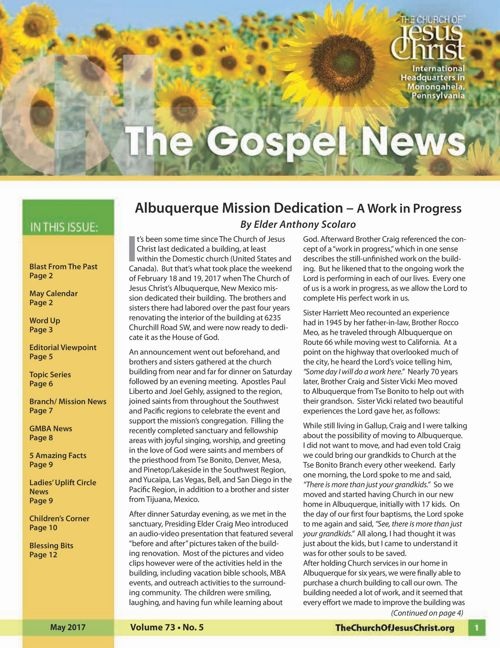 Gospel News - May