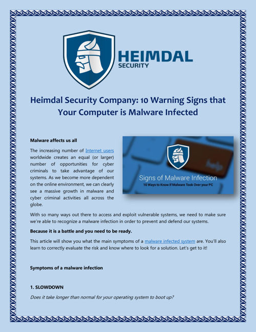 Heimdal Security Company - 10 Warning Signs