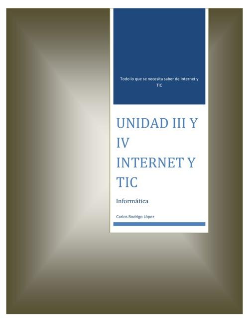 UNIDAD III Y IV RELOADED