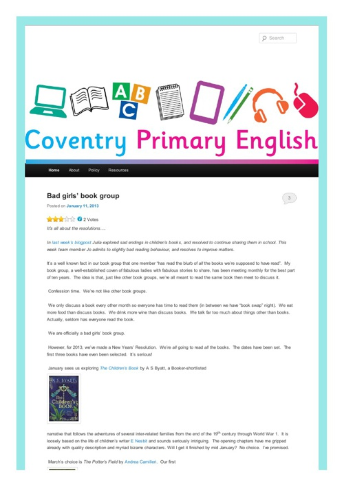 The Primary English Blog
