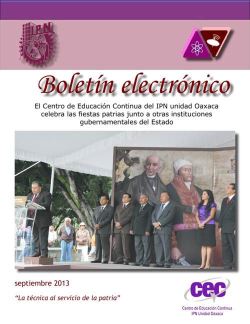 Boletín septiembre