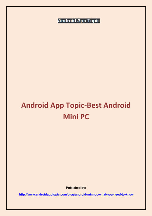 Android App Topic
