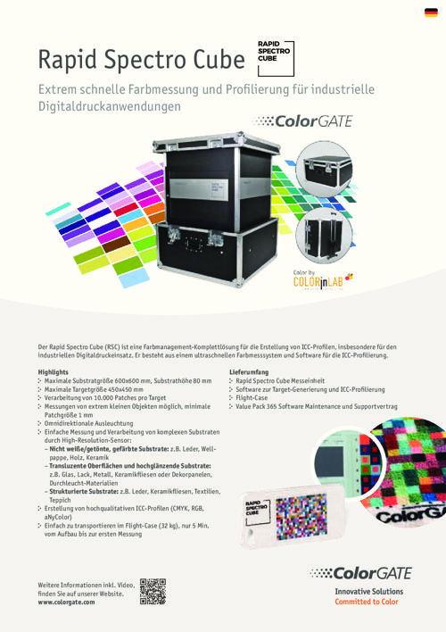 ColorGATE Rapid Spectro Cube (RSC) Deutsch