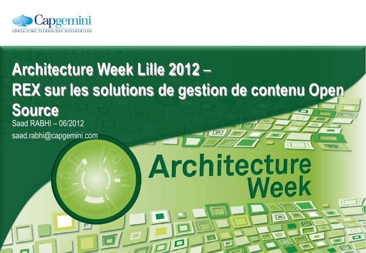Architecture Week 2012